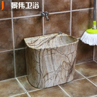 The balcony mop pool ceramic mop pool large European marble table control automatic mop mop pool toilet basin
