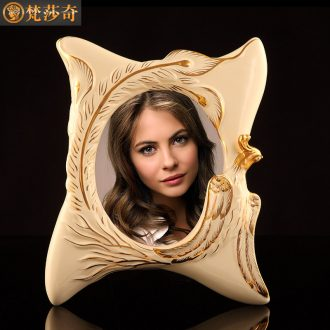 European ceramic 7 inch decorative picture frame set up creative photo frame sample room bedroom furnishing articles of luxury seven restoring ancient ways