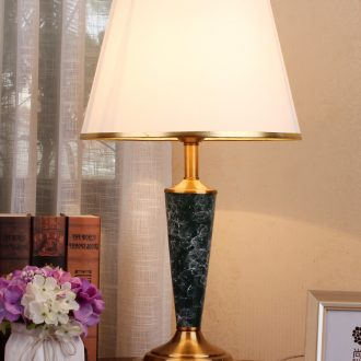 American contracted lamp light ceramic desk lamp of bedroom the head of a bed hotel apartment room lighting