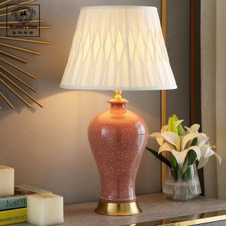 American princess daughter room pink ceramic desk lamp to marry him red girlfriends marriage room bedside lamp small bedroom lamp