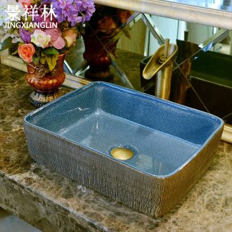 Imitation of ancient art stage basin of jingdezhen ceramic sinks rectangle wash basin on the sink