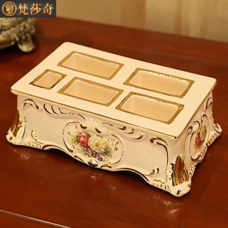 2018 new luxury remote receive a box of European ideas sitting room tea table of household ceramics desktop receive frame