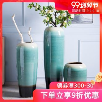 Jingdezhen big vase furnishing articles be born porcelain hotel large sitting room porch office high decorative porcelain vase