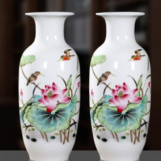 Jingdezhen Chinese pottery and porcelain vase sitting room place flower home wine ark adornment study craft vase