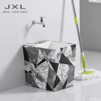 Contracted Nordic small balcony mop mop pool splling pool toilet sewage pool of household ceramic mop pool basin
