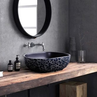 On the sink oval Chinese blue and white ceramics archaize bath home bathroom toilet art the basin that wash a face