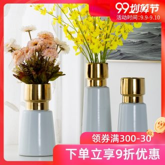 Creative fashion phnom penh white ceramic vases, contemporary and contracted flower arranging flower implement jingdezhen ceramic furnishing articles ornaments