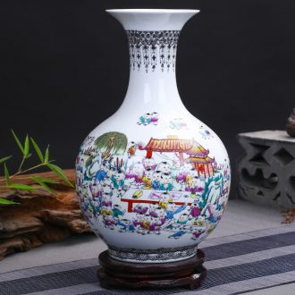 Chinese classical jingdezhen ceramics figure vases, flower arranging the ancient philosophers sitting room home rich ancient frame adornment furnishing articles