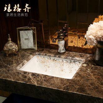 Koh larn, qi ceramic embedded sinks below the sink toilet bathroom ark household square art basin