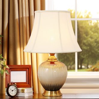 American contracted desk lamp of bedroom the head of a bed home sitting room creative romance ceramic married home decoration lamp