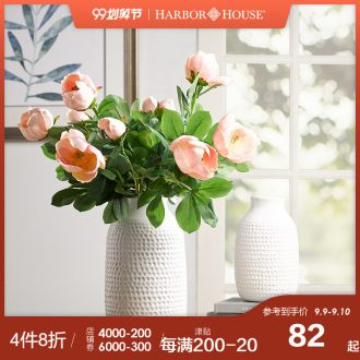 Pure and fresh and contracted HarborHouse American household dry flower ceramic vases, flower arrangement table furnishing articles Constance
