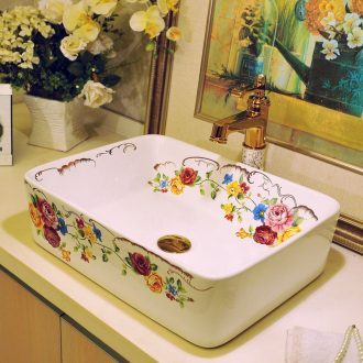 Lavatory ceramic european-style rectangle bathroom art stage basin sinks lavabo household restoring ancient ways