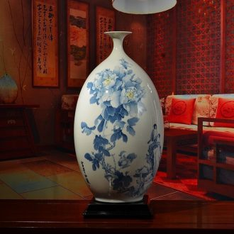 Oriental soil under the glaze color ceramic olive bottles of classical Chinese style living room TV cabinet antique vase furnishing articles