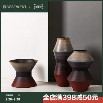 BEST WEST designer ceramic vase furnishing articles sample room living room large vase decoration ideas
