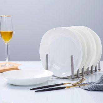 Pure white bone porcelain dishes son home ideas of jingdezhen ceramic tableware square salad deep dish cooking soup plate