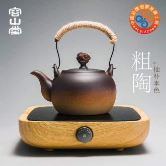 RongShan hall coarse pottery pot boil tea machine electricity TaoLu ceramic heat kettle large girder ceramic POTS permeating the tea stove