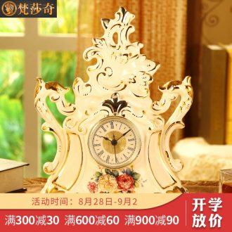 Vatican Sally's sitting room luxury home European ceramic mute watch clock office desk clock desktop decoration furnishing articles