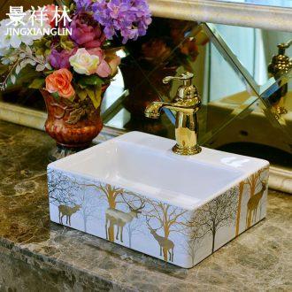 American wash basin stage art ceramics on the sink basin basin bathroom sinks restoring ancient ways