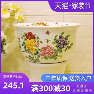 Package mail American pastoral style of jingdezhen art basin mop mop mop pool - white colour