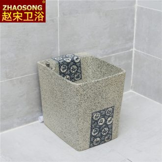 Nordic retro ceramic machine control mop pool square pool mop basin mop mop bucket balcony drop slot antifreeze
