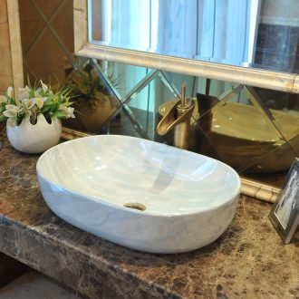 European contracted marble art basin of jingdezhen ceramic wash basin stage basin & ndash; Color corrugated