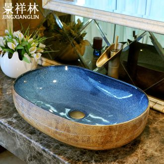 Basin ceramic art basin of oval table Europe type restoring ancient ways more basin basin lavatory toilet hand basin