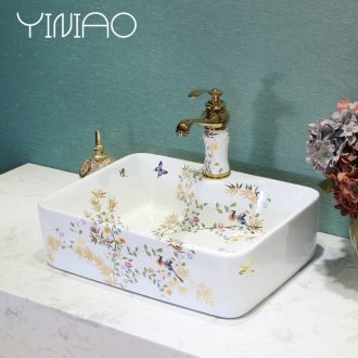 Million birds stage basin sink ceramic square art basin bathroom sinks the basin that wash a face wash one household