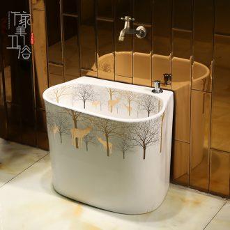 Mop mop pool ceramic POTS to wash the mop pool balcony mop pool slot home land basin floor toilet milu deer