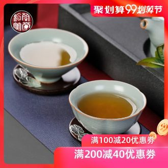 Chrysanthemum patterns your kiln hat day a cup of green tea light master cup single cup ceramic cups a single large cup of tea