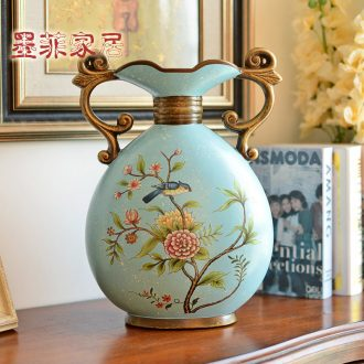 Murphy's European ceramic ear vase decoration furnishing articles american-style restaurant TV ark restoring ancient ways is the sitting room porch flower arranging