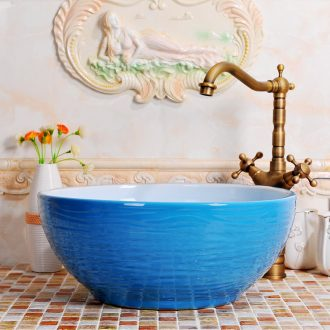Round the stage basin ceramic art basin Europe type restoring ancient ways is contracted basin basin lavatory toilet hand basin