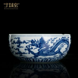 Better sealed kiln furnishing articles sitting room of blue and white porcelain jingdezhen ceramic household large porcelain ashtrays Chinese office