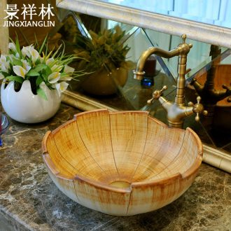 The stage basin ceramic contracted art petals basin European toilet lavabo, contracted lavatory basin