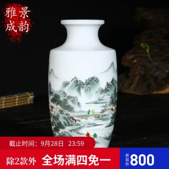 Jingdezhen ceramics hand-painted Chinese vase household adornment art crafts home sitting room adornment