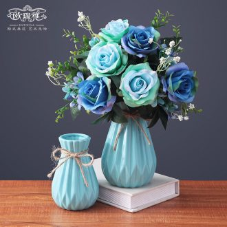 Contracted and contemporary small pure and fresh and vase continental creative living room table dry flower arranging flowers adornment ceramics desktop furnishing articles