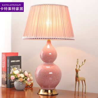 American ceramic desk lamp bedroom nightstand lamp sitting room warm and romantic wedding household contracted and contemporary household adornment