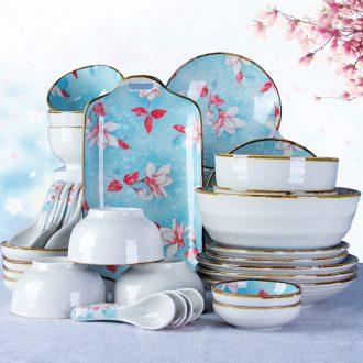 Eat rice bowl dishes suit Japanese household ceramics combination of jingdezhen porcelain noodles in soup bowl dish bowl chopsticks bone plate