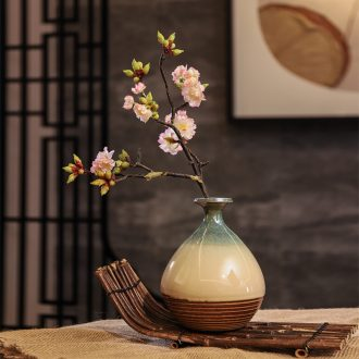 Chinese style is contracted ceramic vase furnishing articles sitting room table simulation plum flower arranging household soft adornment zen suit