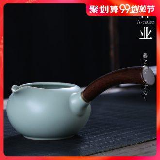 Auspicious industry your kiln side) ceramics are fair mug cup of tea, head of household kung fu tea tea accessories points