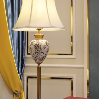 American ceramic desk lamp elegant rural art deco contemporary and contracted hand-painted all copper lamps and lanterns of the sitting room the bedroom of the head of a bed