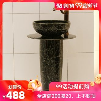 The rain spring basin of jingdezhen ceramic table column basin basin bathroom toilet lavabo balcony sink