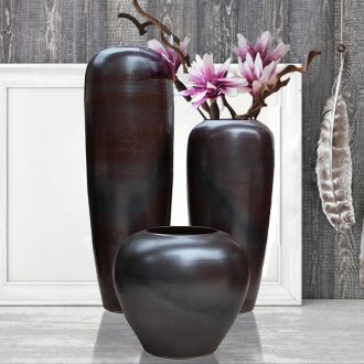 Southeast Asia style art show jingdezhen poinsettia glaze floor series ceramic hotel furnishing articles
