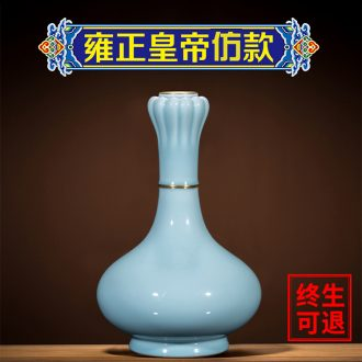 Jingdezhen ceramic vase is placed the new Chinese style is contemporary and contracted archaize sitting room rich ancient frame garlic bottle porcelain vases