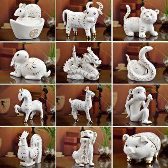 Oriental soil 12 Chinese zodiac animals dragon pig cattle dog furnishing articles ceramics creative birthday present practical