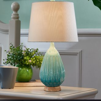 European ceramic small table lamp of bedroom the head of a bed contracted and contemporary warm warm light American remote sitting room lamps and lanterns of northern Europe