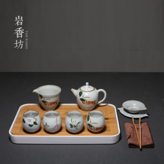 YanXiang fang restoring ancient ways your kiln kung fu tea set ceramic teapot household contracted tea tray tea tea set