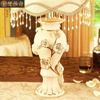 Light the luxury of the sitting room decorate ceramic desk lamp sofa tea table lamp european-style luxury bedroom nightstand lamp sweet romance