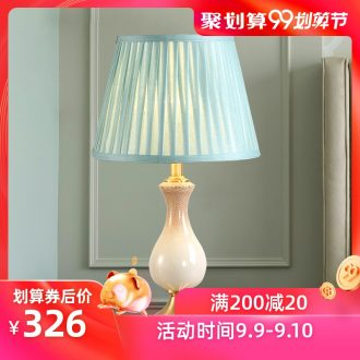 American whole copper ceramic desk lamp LED contracted warm idea of bedroom the head of a bed a marriage between example room chandeliers
