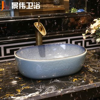 Toilet stage basin sinks ceramic lavabo vintage wash one small size of the oval water basin