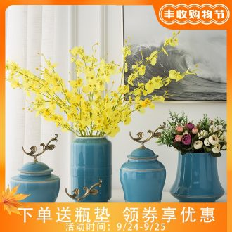 Married the dining-room of Europe type vase flower arranging furnishing articles sitting room bedroom adornment porcelain with cover a China ceramic bottle